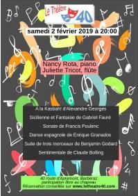 Affiche le 40 flute et piano