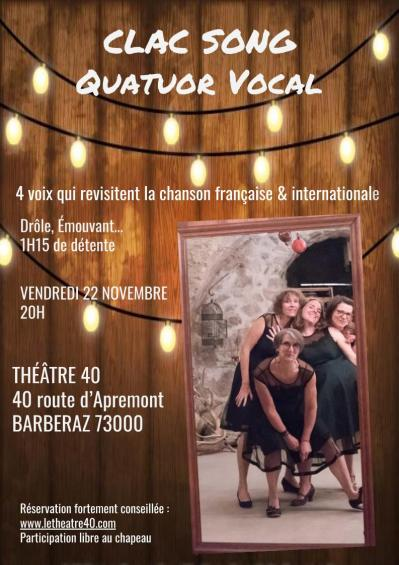 Theatre40 3 affiche clac song